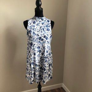 Lulu's high neck floral tunic (xl)